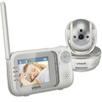 Safe & Sound(R) Pan & Tilt Full-Color Video & Audio Monitor (VM333). (PRNewsFoto/VTech Communications, Inc.)
