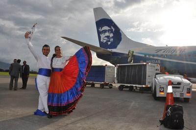 Mariachi dancers greeted passengers arriving at Juan Santamaria International Airport on Oct. 31.