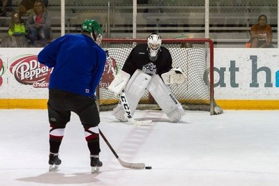 Wounded Warrior Project helped a group of veterans gear up and hit the ice at the NYTEX Sports Centre, home of the NAHL Lone Star Brahmas, for a hockey boot camp.