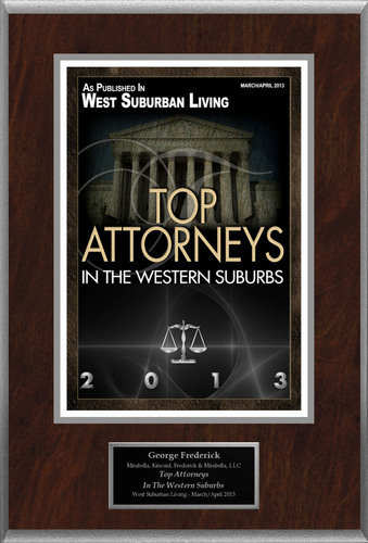 "George Frederick Selected For ""Top Attorneys In The Western Suburbs"".  (PRNewsFoto/American Registry)"