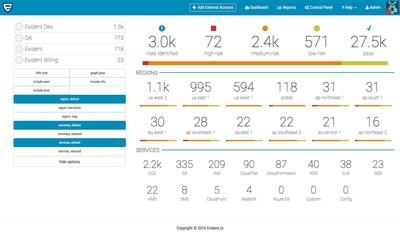 Evident Security Platform Dashboard