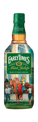 Early Times Mint Julep, the Official Drink of the Kentucky Derby, releases its limited edition Kentucky Derby bottle.