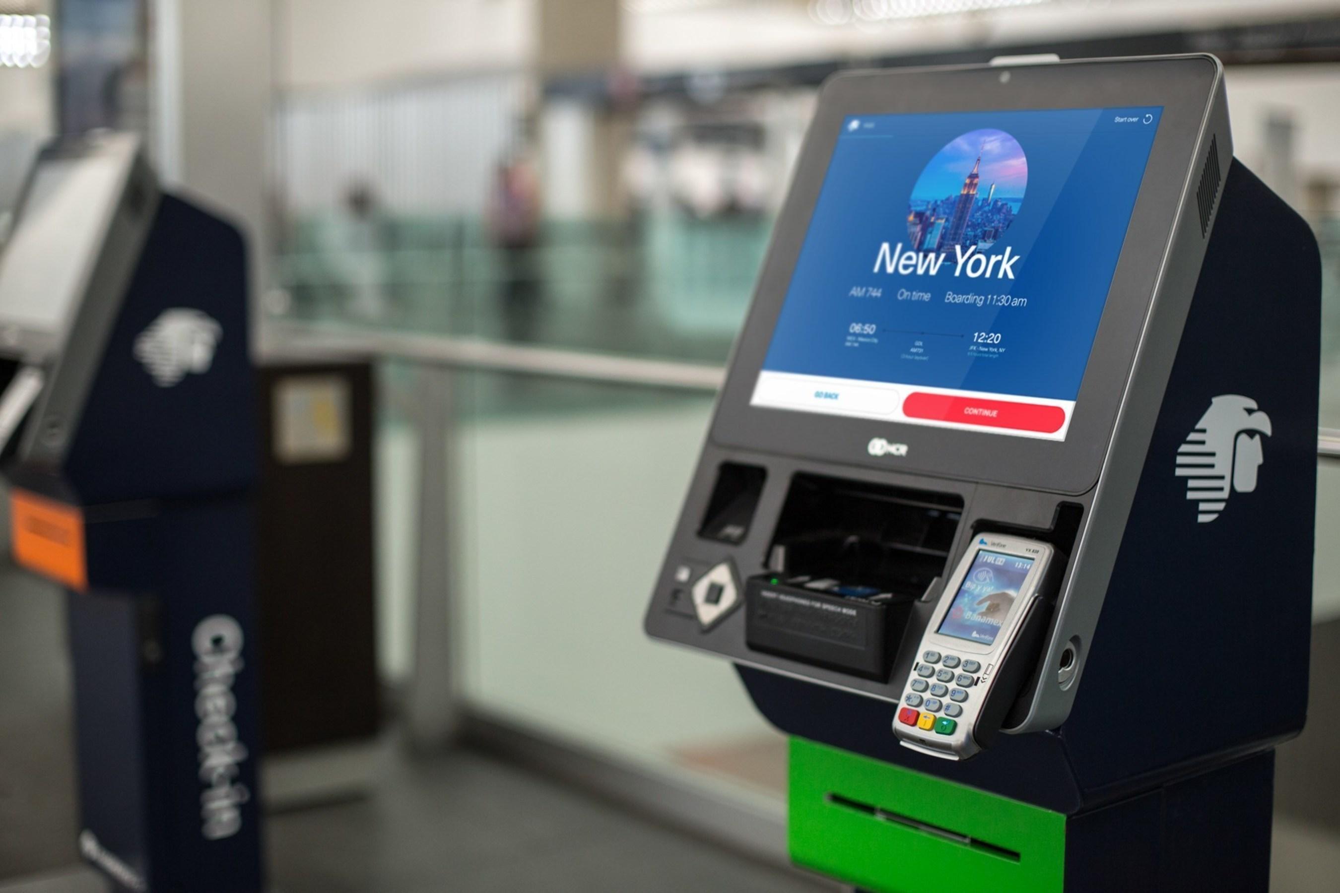 Nuevos kioskos automaticos en aeropuertos de Aeromexico
