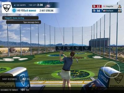 Topgolf game in WGT Golf app