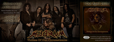Victims of our Circumstances, a new CD album by the Greek rock band Redrum.  (PRNewsFoto/Regina Swarn World Media Motion Pictures & Entertainment)