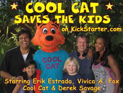 Cool Cat Saves the Kids on Kickstarter.com.  (PRNewsFoto/Cool Cat Productions)