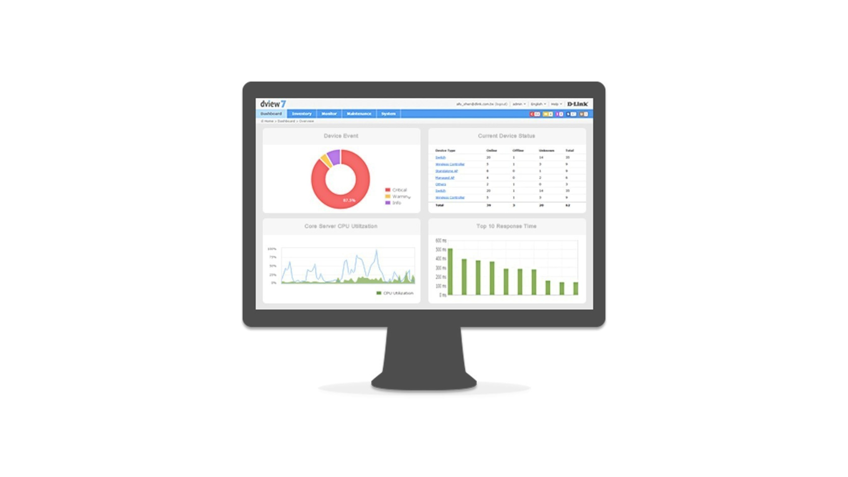 D-View 7 is a web-based NMS designed to effectively manage device monitoring, configuration and troubleshooting.