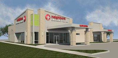 Rendering of the Neighbors Emergency Center Wichita Falls location.
