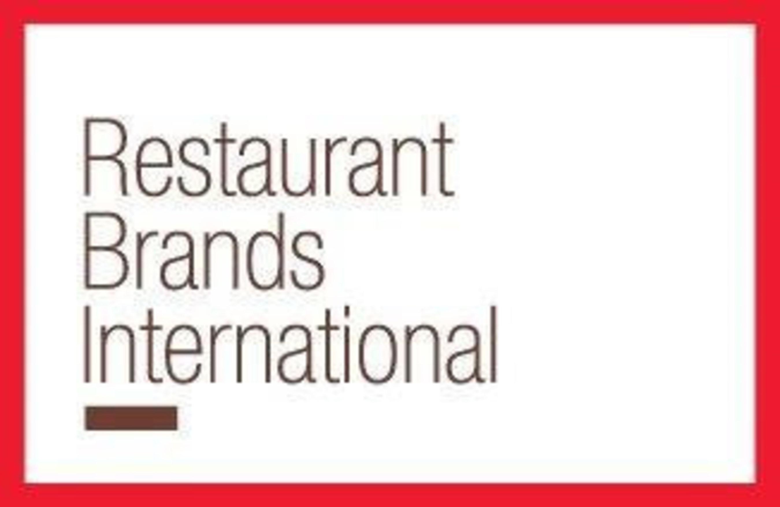 Restaurant Brands International Inc  Reports First Quarter 2016 Results