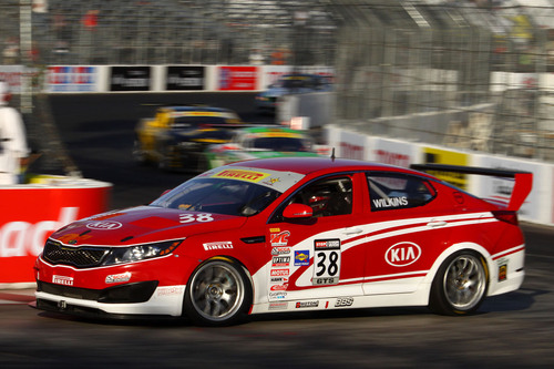 Kia Racing scores top-five finish at Pirelli World Challenge Presented by Kia.  (PRNewsFoto/Kia Motors America)