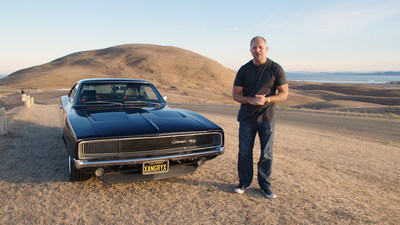 Host Mike Musto showcasing a Dodge Charger muscle car in Motor Trend OnDemand's new show, The House of Muscle.