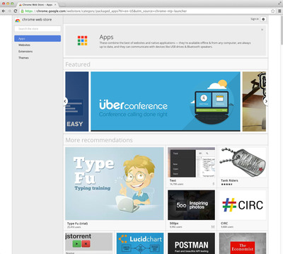 UberConference Selected by Google for Chrome Packaged Apps Initiative