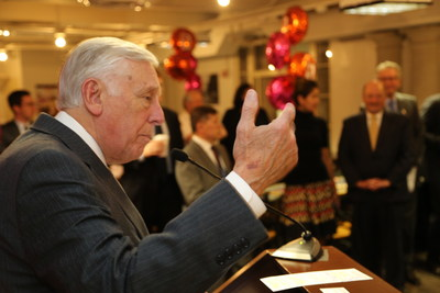 House Democratic Whip Steny Hoyer  (MD) congratulates Gaithersburg, Md. based Sodexo on the grand opening of its Dunkin' Donuts Baskin-Robbins franchise at the U.S. Capitol. The celebration was held Thursday, April 14, 2016 in the Longworth House Office Building Cafeteria.