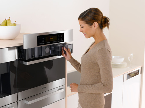 The Miele Combi-Steam Oven features an award winning lift-up control panel. Strategically hidden behind the ...