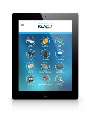 KEMET Introduces Electronic Components App for iPad(R) (PRNewsFoto/KEMET Corporation)