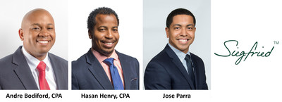 Siegfried congratulates Andre Bodiford, Hasan Henry, and Jose Parra on their new roles as Team Leaders.