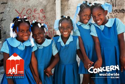 Help get Haiti's kids back to school. Visit www.YourDollarOurFuture.org.  (PRNewsFoto/Concern Worldwide US, Kim Haughton)