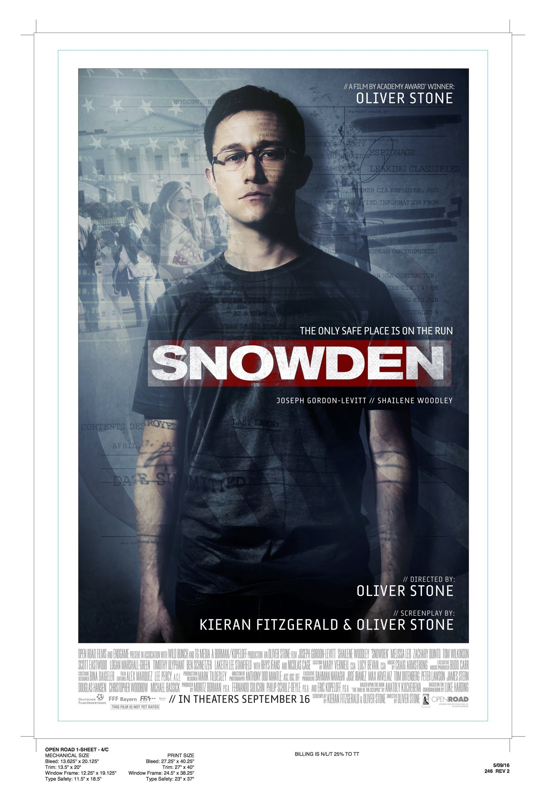 Skyhorse to Publish 'Snowden' Screenplay by Kieran Fitzgerald and Oliver Stone