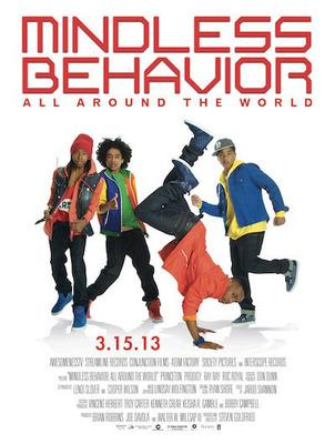 """Mindless Behavior """"All Around the World"""" Movie Poster.  (PRNewsFoto/BlackBloggersConnect.com)"""