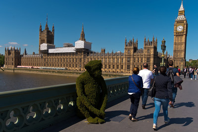 The Body Shop Transforms Westminster Bridge To Raise Awareness Of Bio-Bridges. Credit Getty Images for The Body Shop