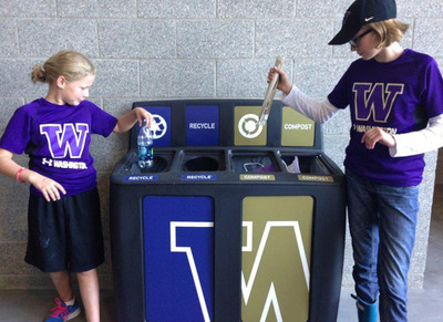 GreenDrop Recycling Stations at The University of Washington.  (PRNewsFoto/Pacific Cascade Corporation)