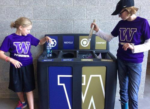 GreenDrop Recycling Stations at The University of Washington.  (PRNewsFoto/Pacific Cascade Corporation)