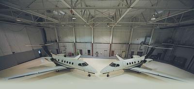 Flight Options' Phenom 300 fleet.  (PRNewsFoto/Flight Options, LLC, Todd T. Anguish)