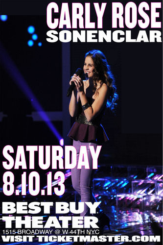 X Factor Finalist, Carly Rose Sonenclar to perform live at Best Buy Theater in NYC on August 10, 2013.  (PRNewsFoto/Live Production Group)