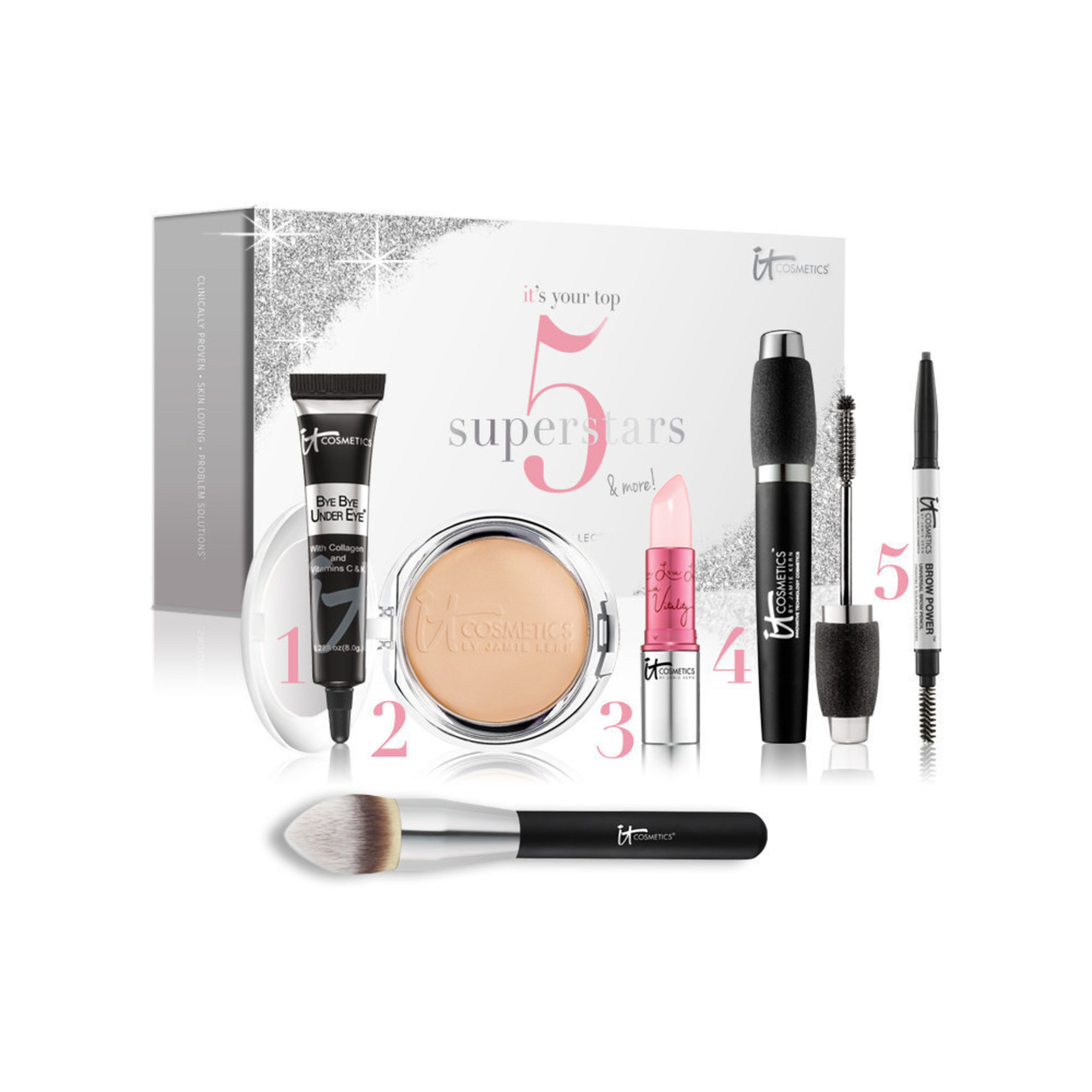 Bring IT home for the holidays! IT Cosmetics IT's Your Top 5 Superstars & More 6pc Holiday Collection. #itcosmetics