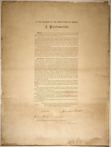 Emancipation Proclamation, Leland-Boker Authorized Edition, 1864. Lincoln Financial Foundation Collection, courtesy of the Indiana State Museum and Historic Sites.  (PRNewsFoto/Lincoln Financial Group)
