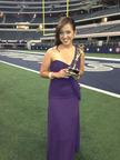 Ivette Sanchez, Telenoticias El Paso Reporter with her Emmy at Cowboys Stadium.  (PRNewsFoto/KTDO Telemundo El Paso)