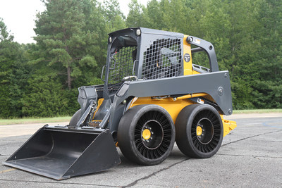 The TWEEL(R) SSL Hard Surface is designed for operators who are involved with construction, transfer stations, waste handling, pavement maintenance or material handling and benefit from a hard surface version of an airless radial skid steer tire.