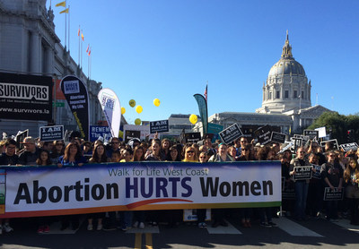 50,000 filled San Francisco's streets on January 24 in opposition to Roe v. Wade.