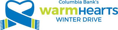 Columbia Bank Warm Hearts Winter Drive logo.