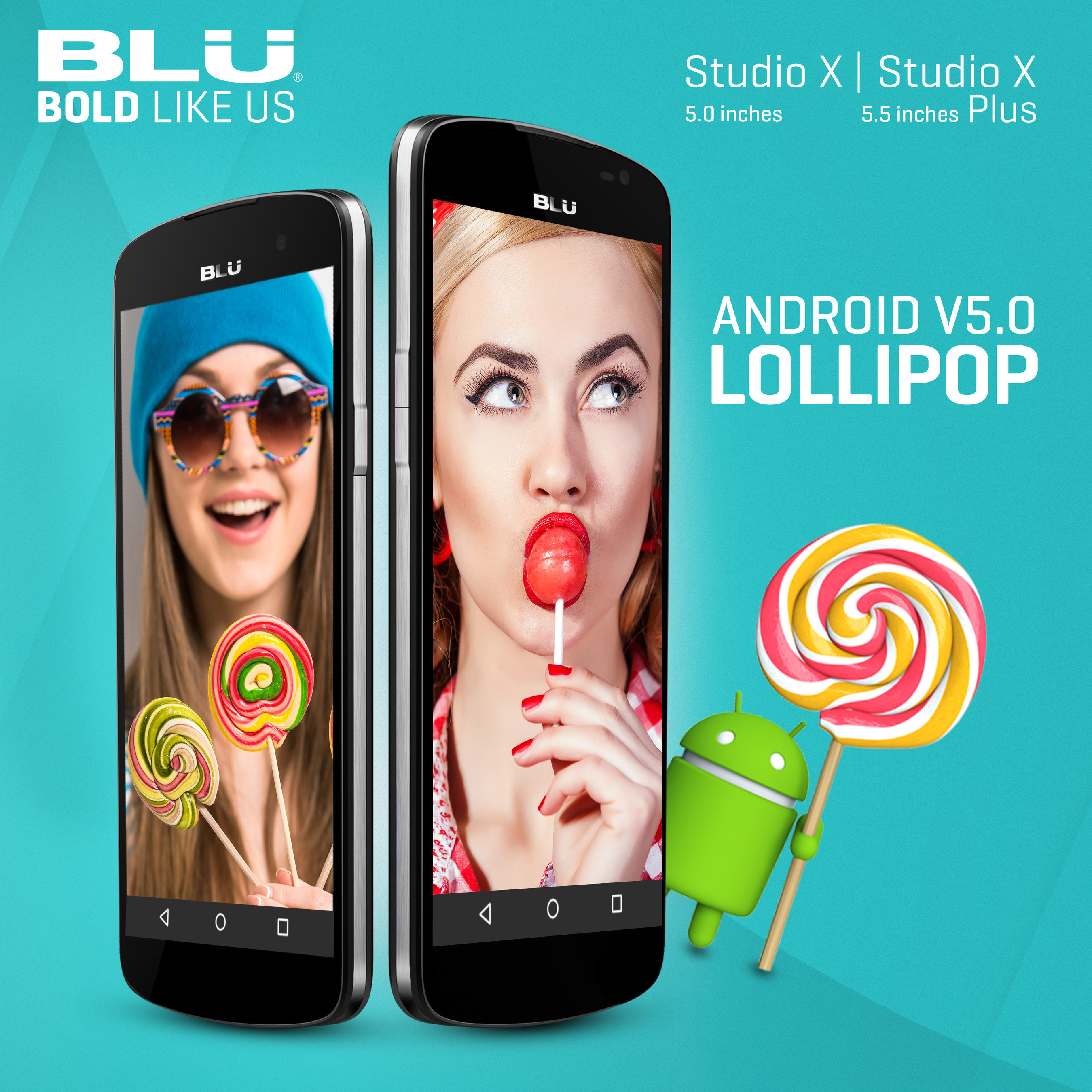 BLU Products announces Android Lollipop updates available for Studio X and X Plus. Additional devices coming soon.