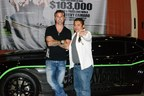 Richard Rawlings, star of Discovery Channel's Fast N' Loud is pictured here outside of Soboba Casino with the Grand Prize Winner of a Gas Monkey Garage custom Chevy Camaro, Rodrigo Torres.