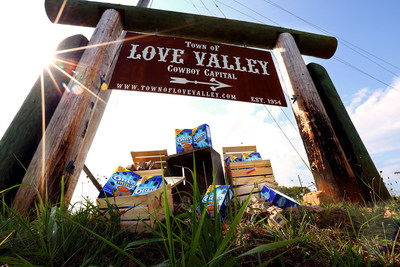 A perfect summer day brings plenty of visitors, including OREO Mini, to Love Valley, North Carolina. Learn more and send your own OREO Mini delivery for free at OREOMiniDelivery.com. (PRNewsFoto/Mondelez International)