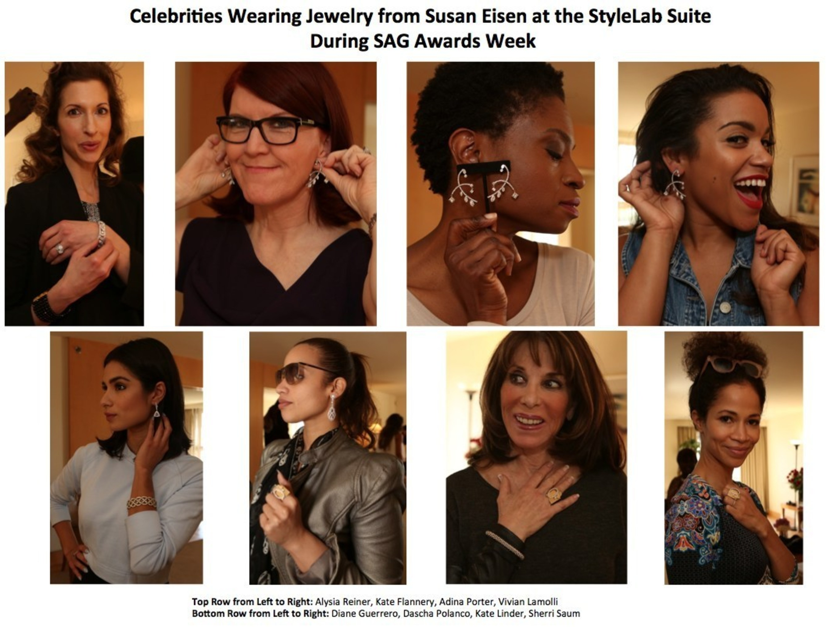 Celebrities And Their Stylists Previewed Jewelry From Susan Eisen At StyleLab's Suite During SAG