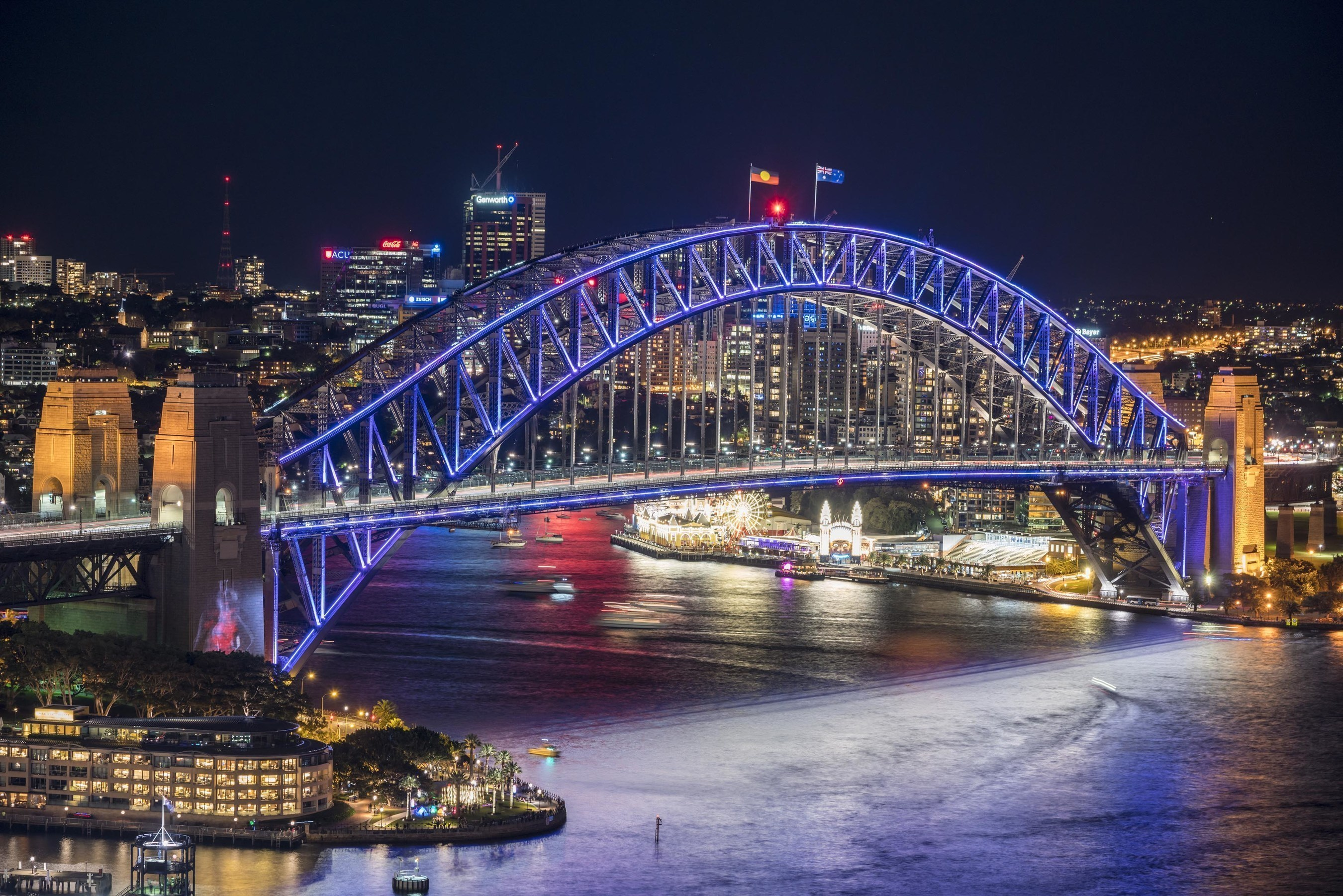 Vivid Sydney 2016 - Sydney Harbour bridge Destination NSW