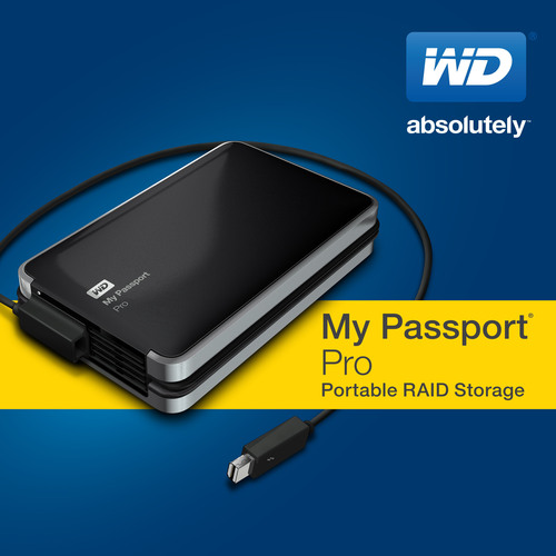 WD(R) Introduces First Thunderbolt(TM)-Powered Portable Dual-Drive.  (PRNewsFoto/WD)