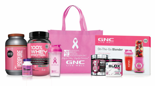 GNC Partners with Its Vendors to Support the National Breast Cancer Foundation.  (PRNewsFoto/GNC Holdings, Inc)