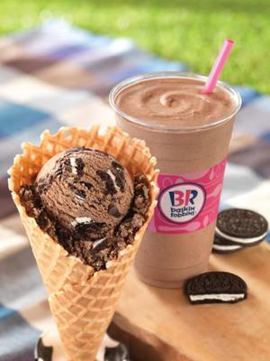 Baskin-Robbins Celebrates National Ice Cream Month: Free Waffle Cone Offer & OREO(R)-Inspired Treats.  (PRNewsFoto/Baskin-Robbins)