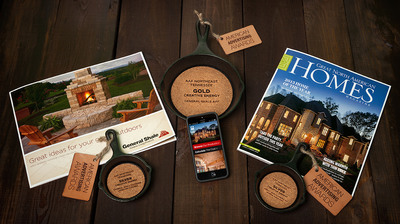 General Shale displays its award winning marketing materials, alongside the unique Addy Awards presented at the 2014 Southern Fried American Advertising Federation Awards.  (PRNewsFoto/General Shale)