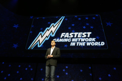 David Perry, co-founder and CEO of Gaikai, discusses PlayStation Network with cloud technology to make free exploration of games possible.  (PRNewsFoto/Sony Computer Entertainment Inc.)