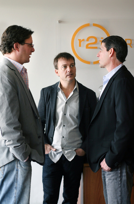 Chief Executive Officer, Matt Goddard, Chief Creative Officer, Dave Taub, and Chief Technology Officer, Chris Chodnicki.