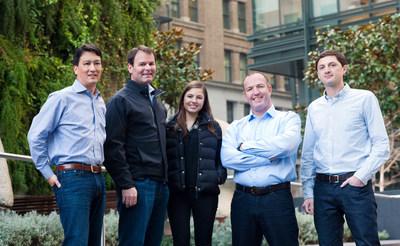 The Propel Venture Partners team, left-right: Jay Reinemann (Managing Partner), Tom Whiteaker (Managing Partner), Ceci Alvarez (Analyst), Ryan Gilbert (Managing Partner), David Mort (Senior Associate), Propel Venture Partners - a new Venture Capital firm focused on the intersection of technology and finance, backed by BBVA.