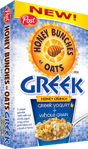 Post Foods, LLC, Announces New Honey Bunches of Oats® Greek Honey Crunch Cereal