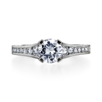 Our Diamond Dash winners will receive this $20,000 handcrafted engagement ring from Tacori.  (PRNewsFoto/Michael C. Fina)
