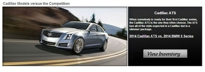 Head to head comparison shopping is one of the most efficient ways to do internet research when looking for a new vehicle. Cavender Cadillac has changed the game in this regard. (PRNewsFoto/Cavender Cadillac) (PRNewsFoto/Cavender Cadillac)