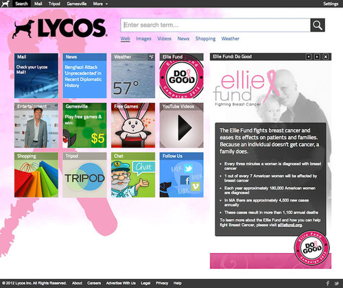 Lycos Goes Pink For Ellie Fund 'Do Good Campaign'
